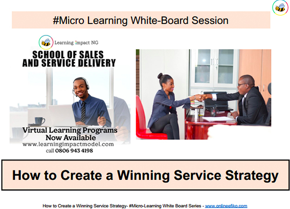 How to Create a Winning Service Strategy