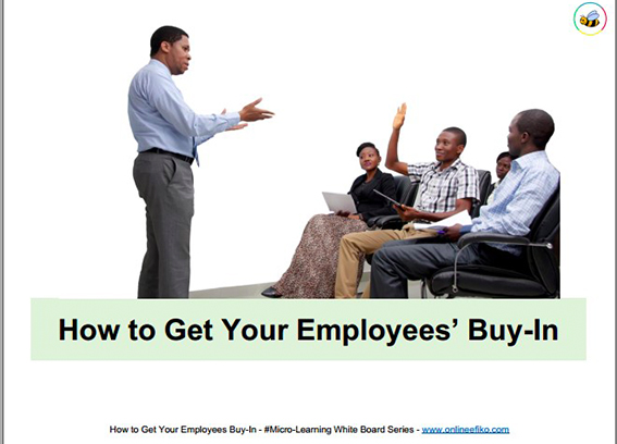 How to Get Your Employees' Buy-In